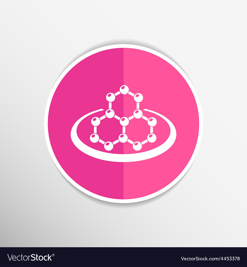 Icon molecular research chemistry model atom vector | Price: 1 Credit (USD $1)