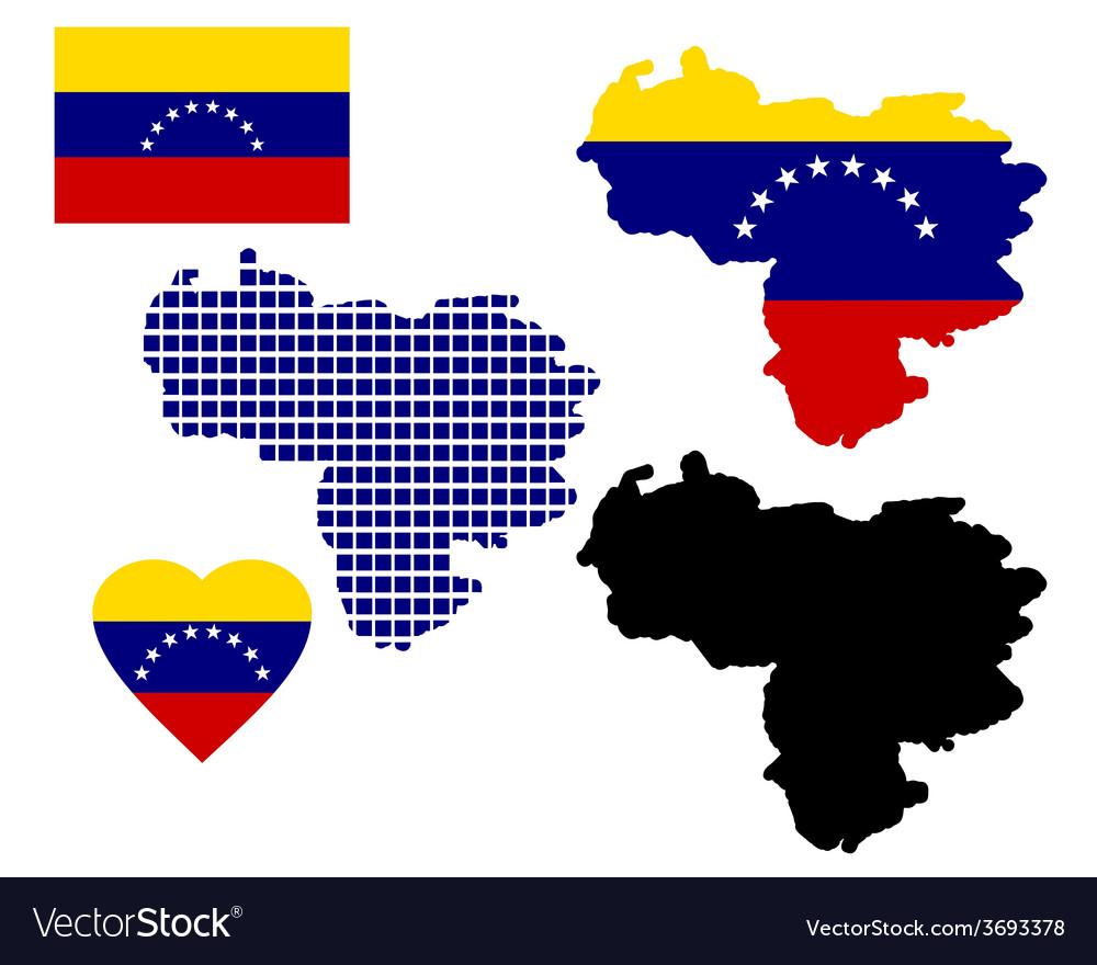 Map of venezuela vector | Price: 1 Credit (USD $1)