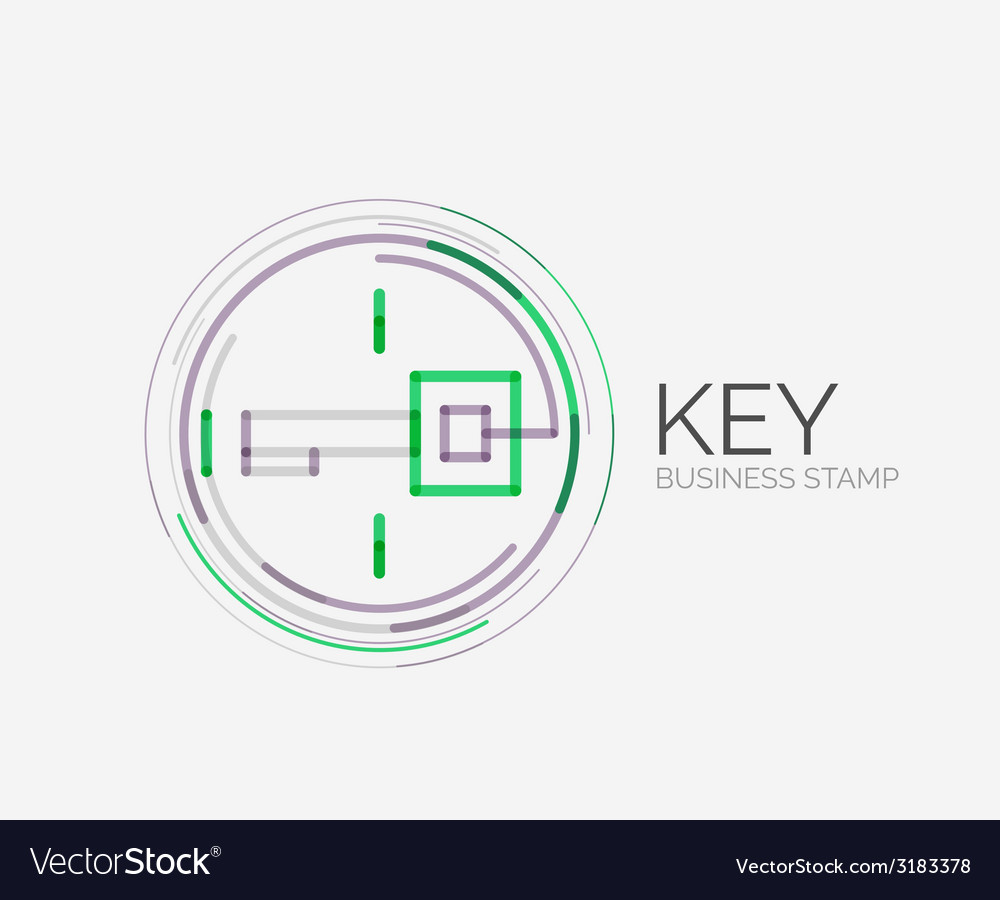Minimal line design shopping stamps key vector | Price: 1 Credit (USD $1)