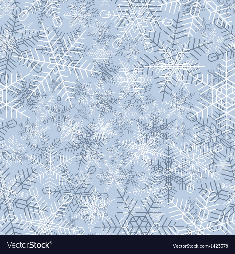 Seamless winter background of snowflake vector | Price: 1 Credit (USD $1)
