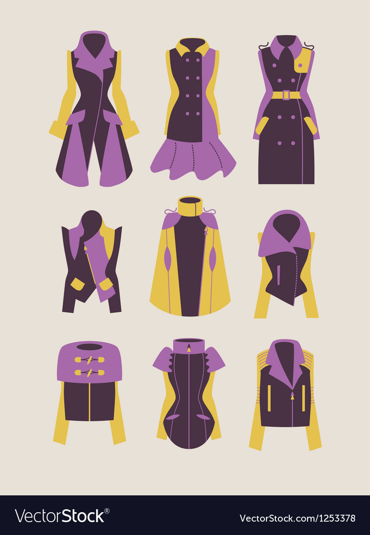 Woman coats and jackets vector   Price: 1 Credit (USD $1)