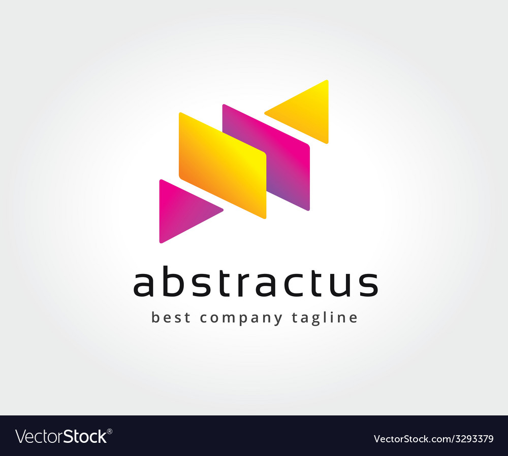 Abstract colored box logo icon concept logotype vector | Price: 1 Credit (USD $1)