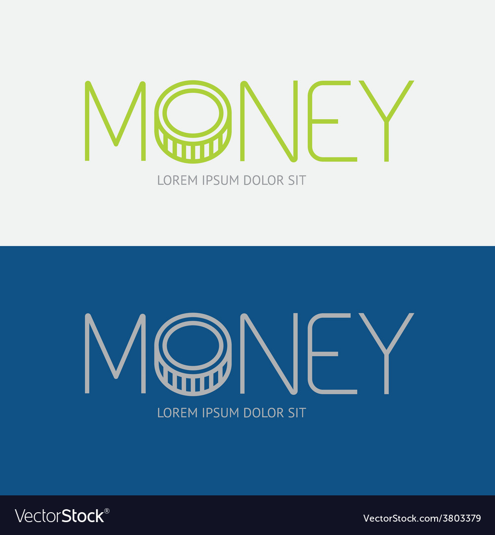 Alphabet design money business concept vector | Price: 1 Credit (USD $1)
