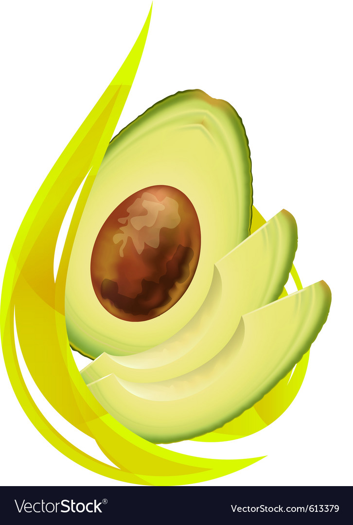 Avocado oil stylized drop vector | Price: 1 Credit (USD $1)