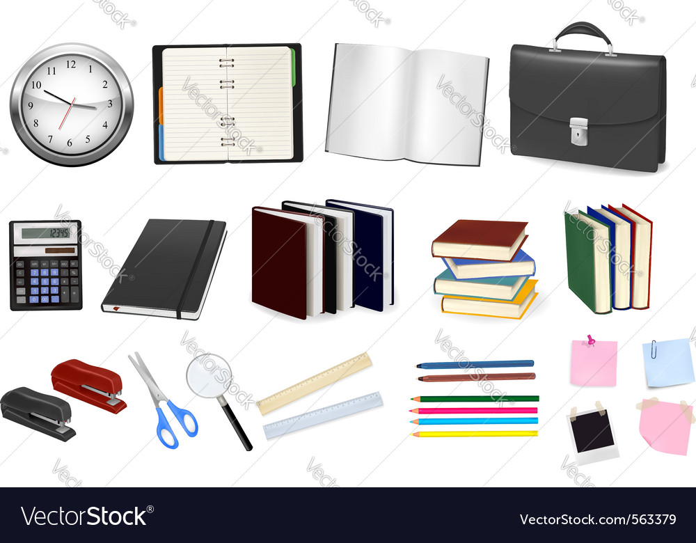 Business and office supplies vector | Price: 3 Credit (USD $3)