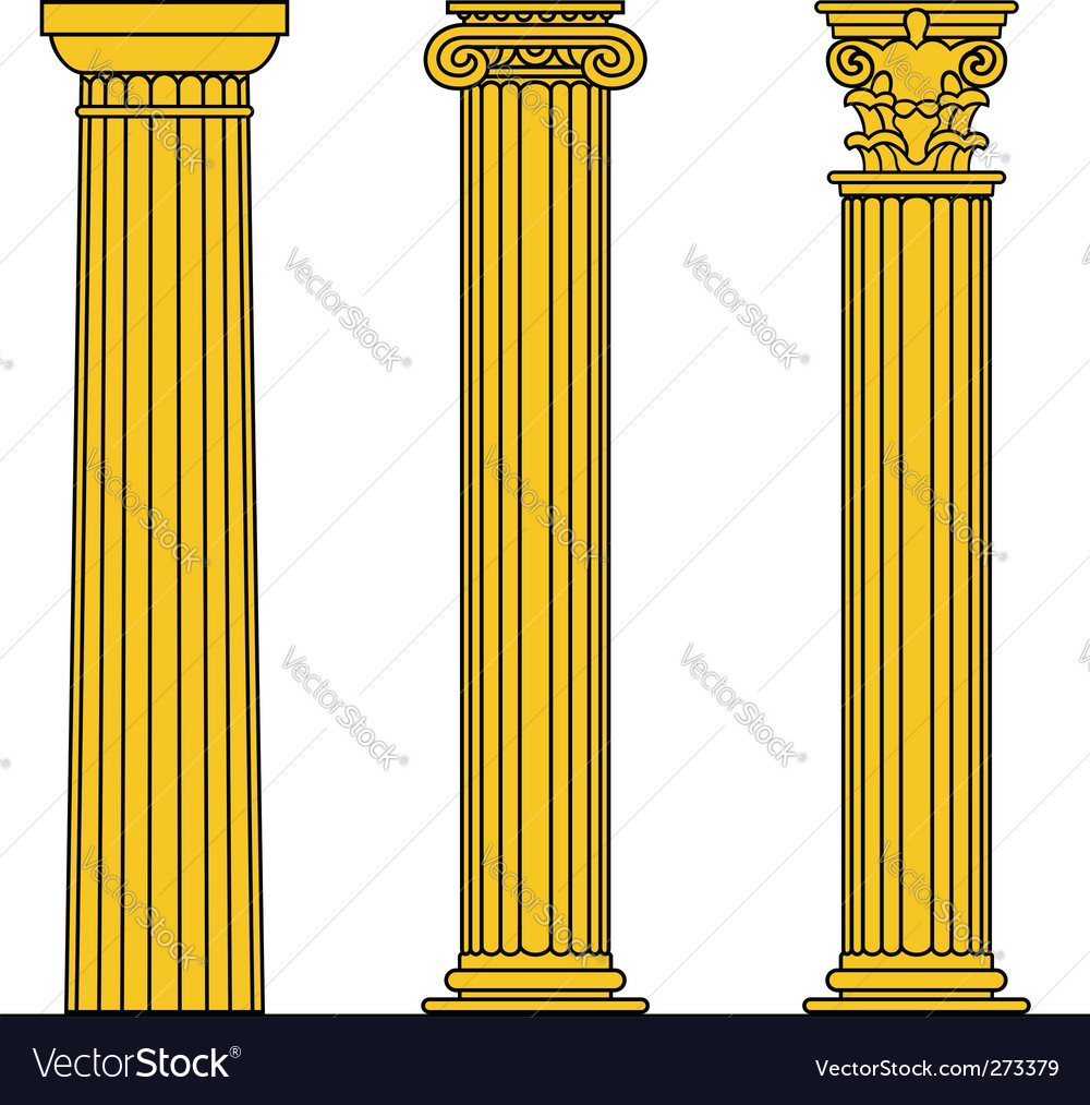 Doric ionic corinthian vector | Price: 1 Credit (USD $1)