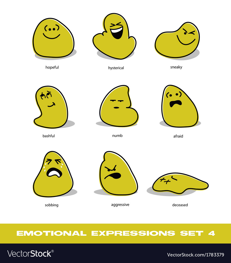 Emotional expressions vector | Price: 1 Credit (USD $1)