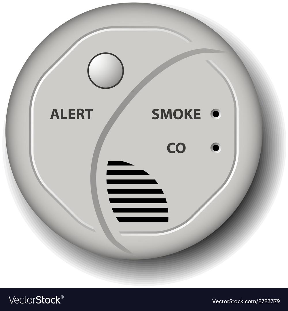 Fire smoke carbon monoxide detector alarm vector | Price: 1 Credit (USD $1)