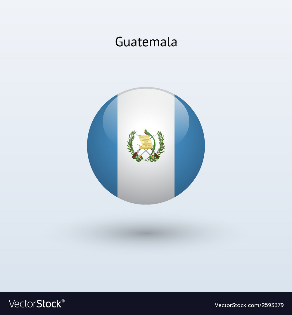 Guatemala round flag vector | Price: 1 Credit (USD $1)
