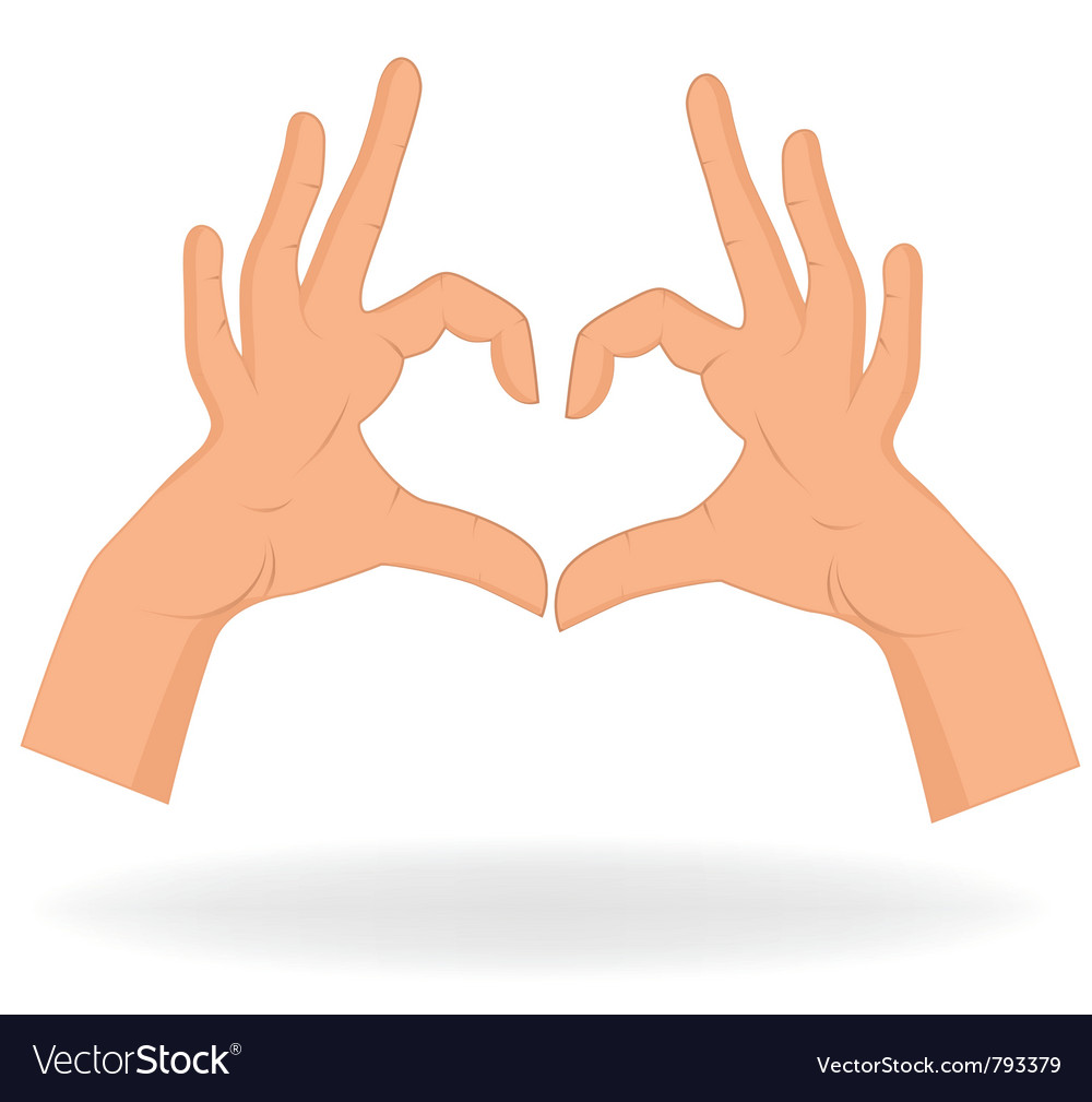 Heart shaped hands vector | Price: 1 Credit (USD $1)