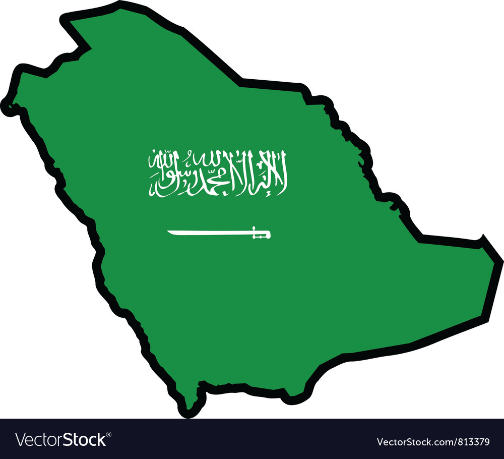 Map in colors of saudi arabia vector | Price: 1 Credit (USD $1)