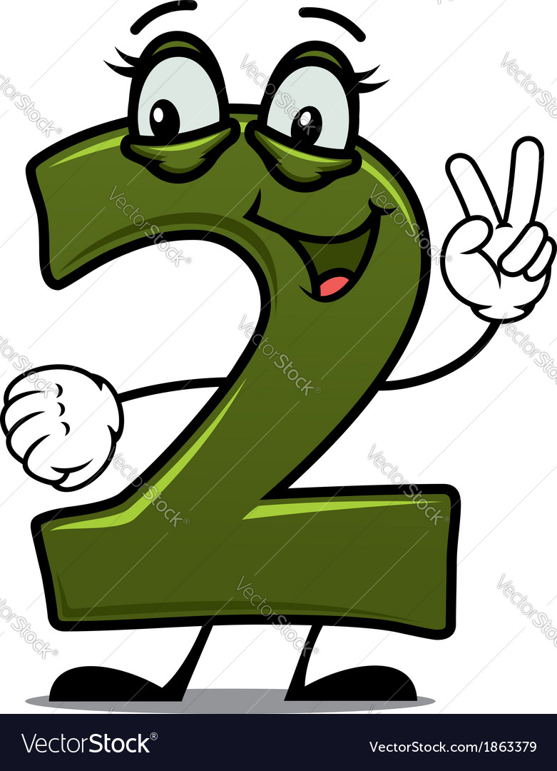 Number two cartoon image vector | Price: 1 Credit (USD $1)