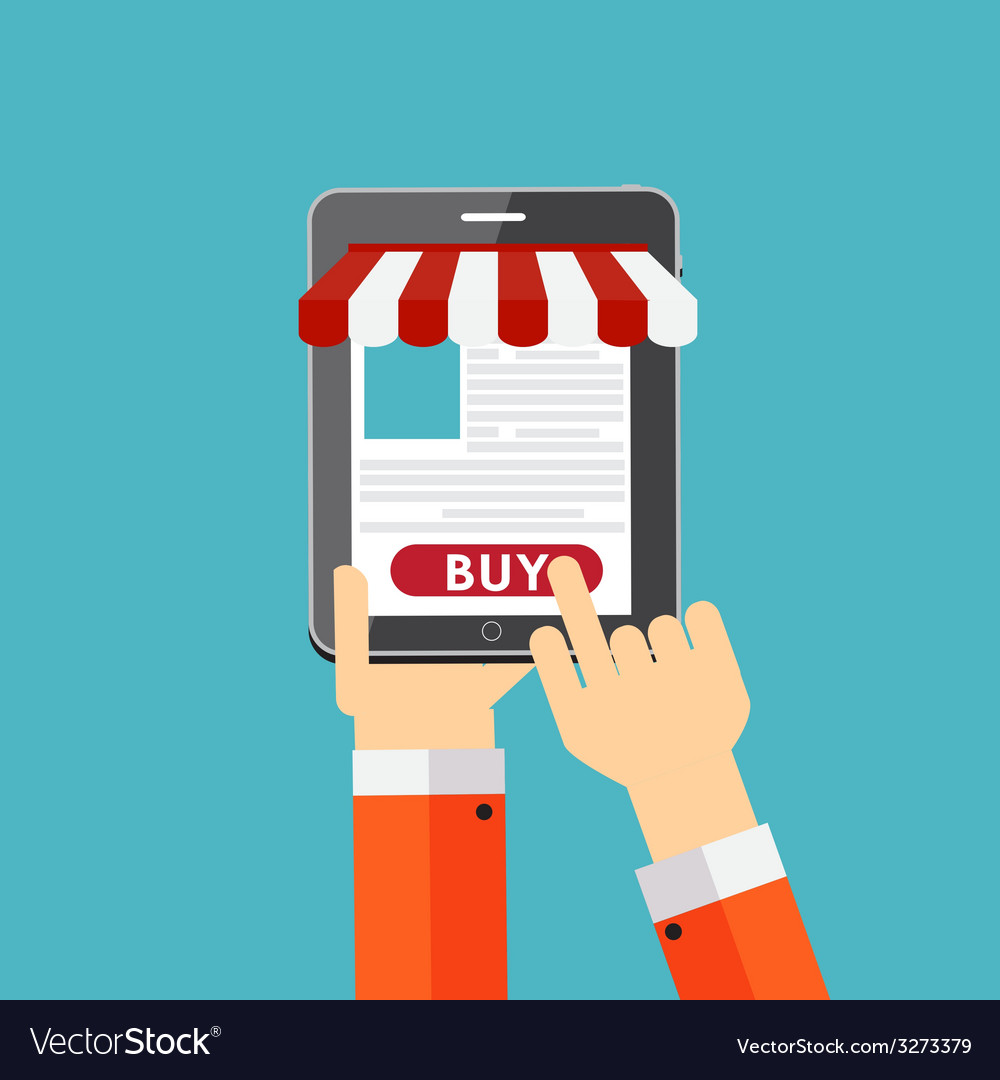 Online shopping flat concept for mobile apps vector   Price: 1 Credit (USD $1)