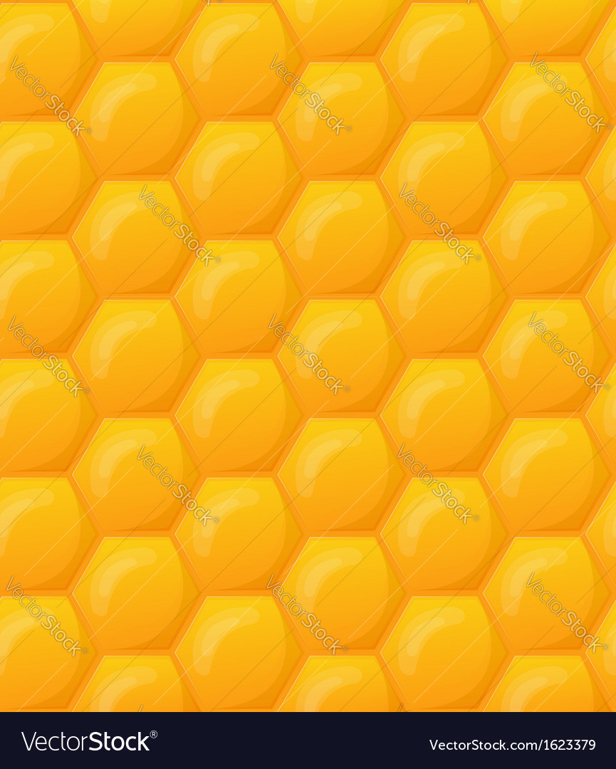Seamless honeycomb wallpaper pattern vector | Price: 1 Credit (USD $1)