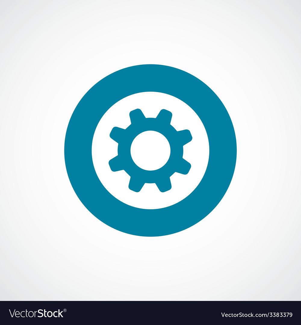 Settings bold blue border circle icon vector | Price: 1 Credit (USD $1)