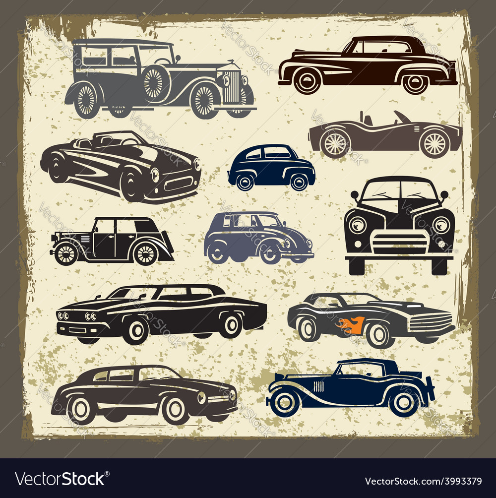 Vintage style retro cars vector | Price: 3 Credit (USD $3)