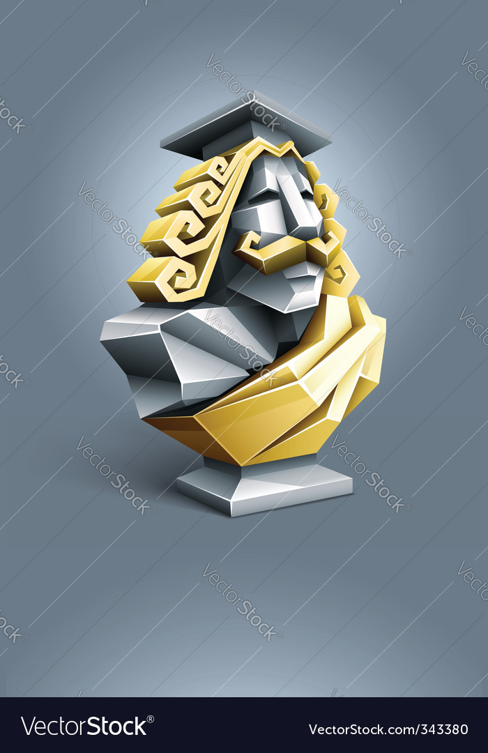 Antique sculpture bust of vector | Price: 1 Credit (USD $1)