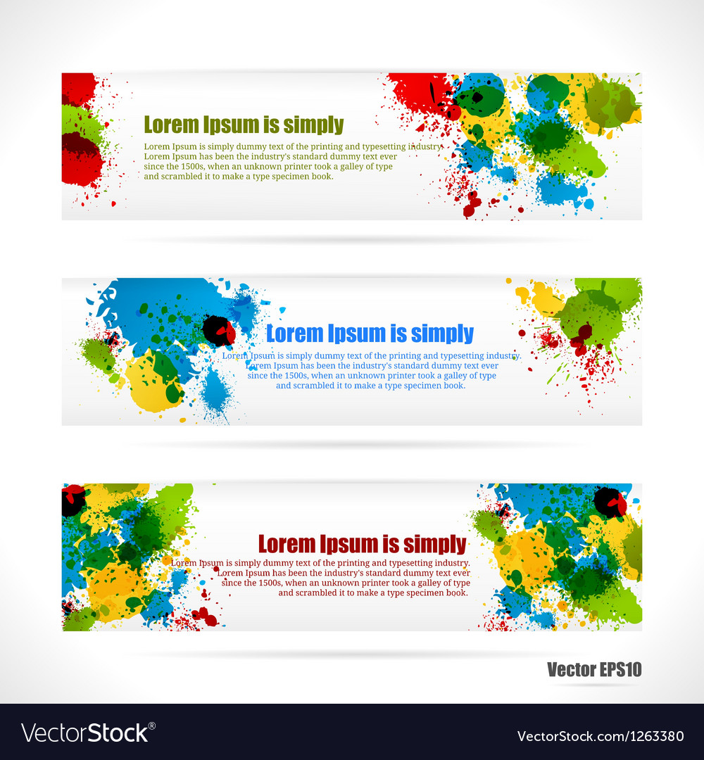 Color web banners vector | Price: 1 Credit (USD $1)