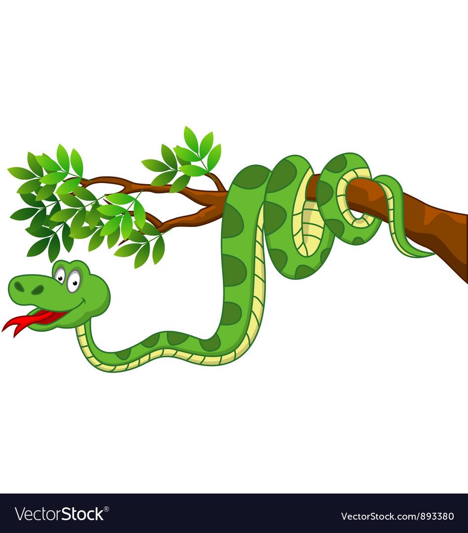 Cute snake cartoon vector | Price: 3 Credit (USD $3)