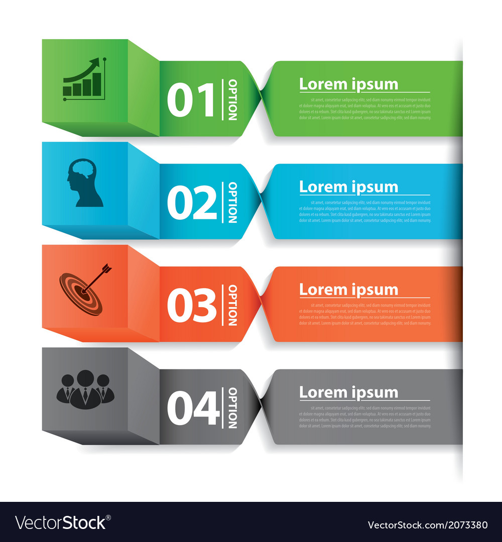 Modern business banner box infographic vector | Price: 1 Credit (USD $1)