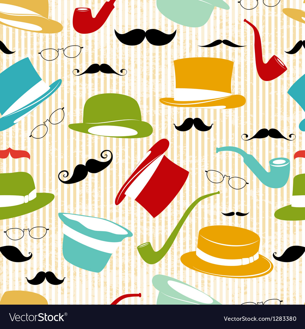 Retro party seamless background vector | Price: 1 Credit (USD $1)