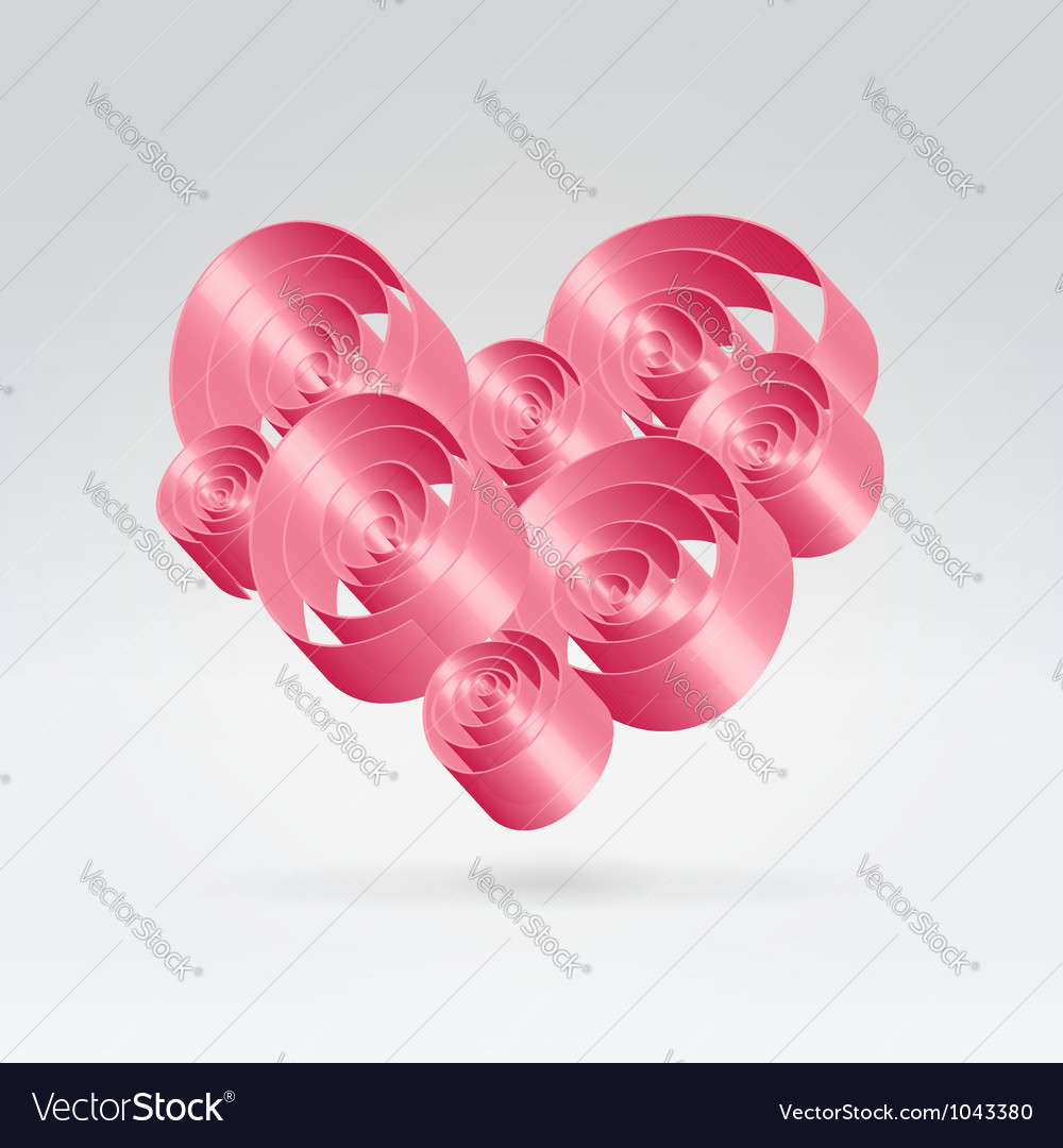 Romance ribbons bouquet vector | Price:  Credit (USD $)