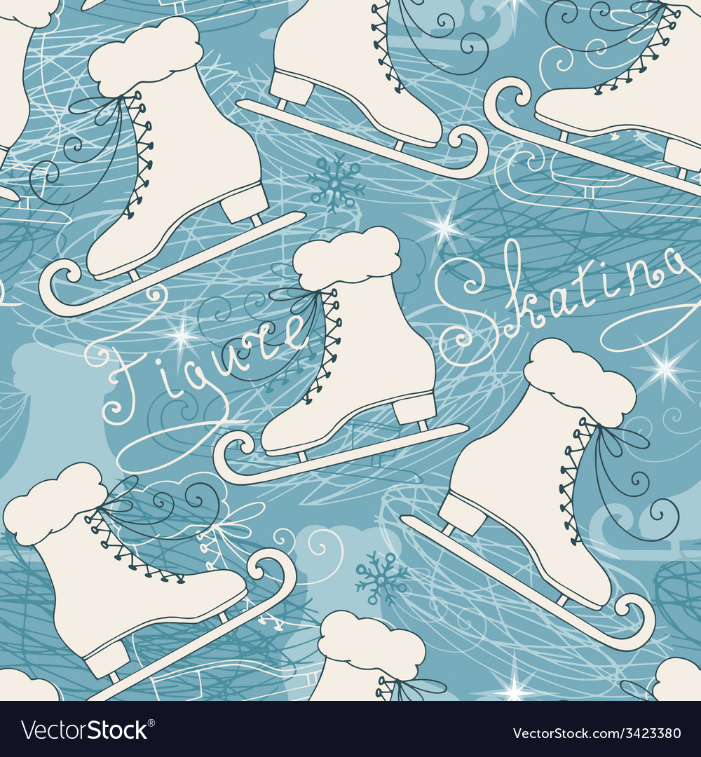 Seamless pattern with skates vector | Price: 1 Credit (USD $1)