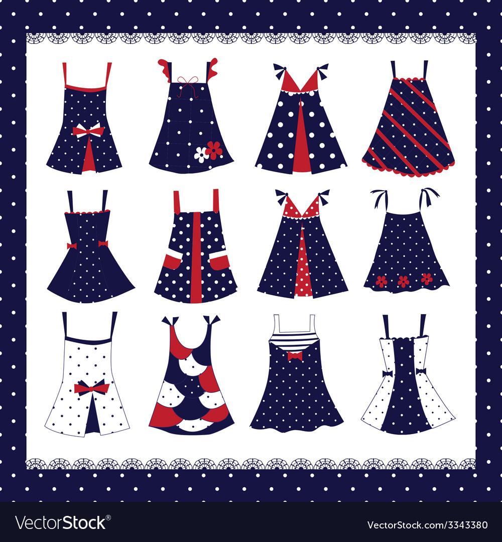 Set of dresses vector   Price: 1 Credit (USD $1)