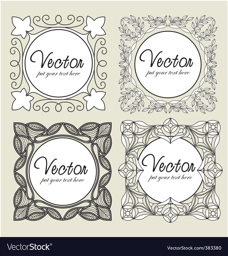 Set vintage labels vector | Price: 1 Credit (USD $1)