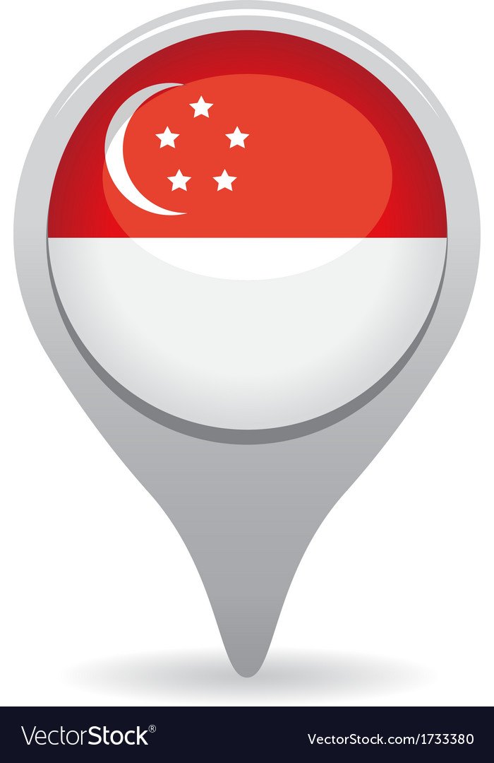 Singapore flag pointer vector | Price: 1 Credit (USD $1)