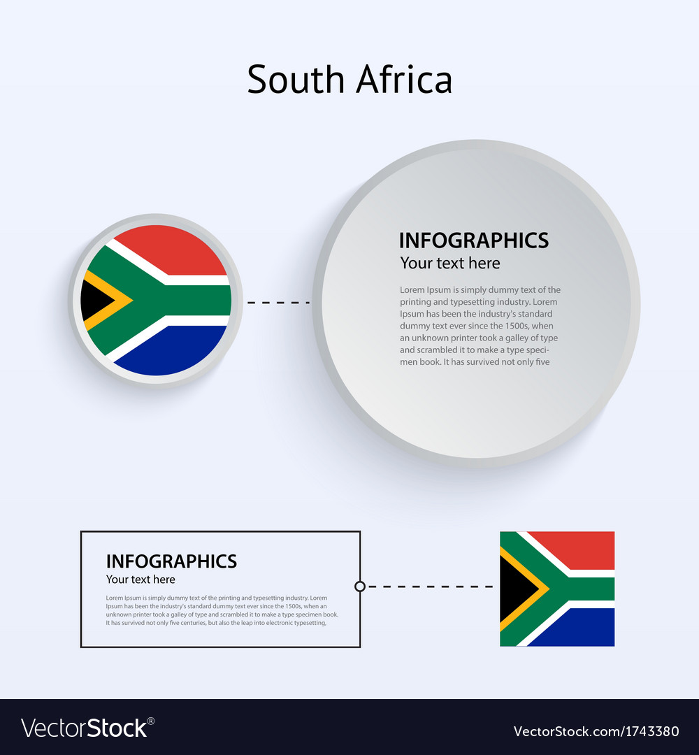 South africa country set of banners vector | Price: 1 Credit (USD $1)