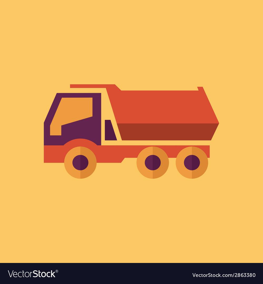 Truck transportation flat icon vector | Price: 1 Credit (USD $1)