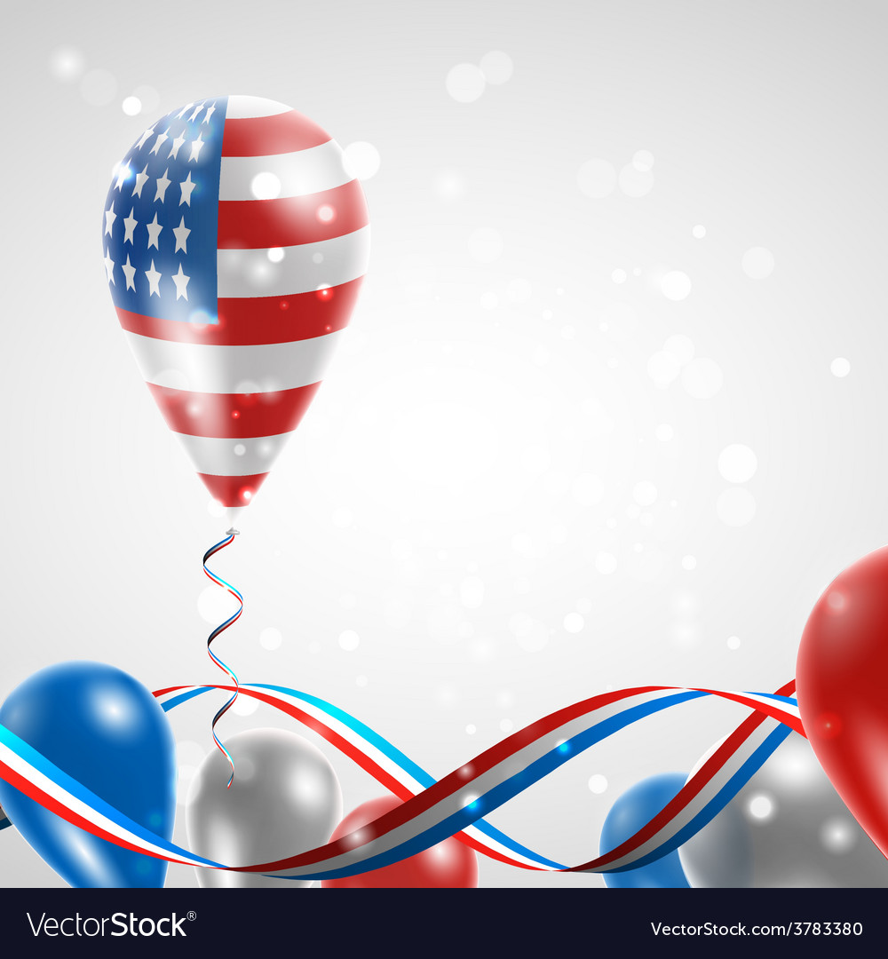 Usa flag on balloon vector | Price: 3 Credit (USD $3)