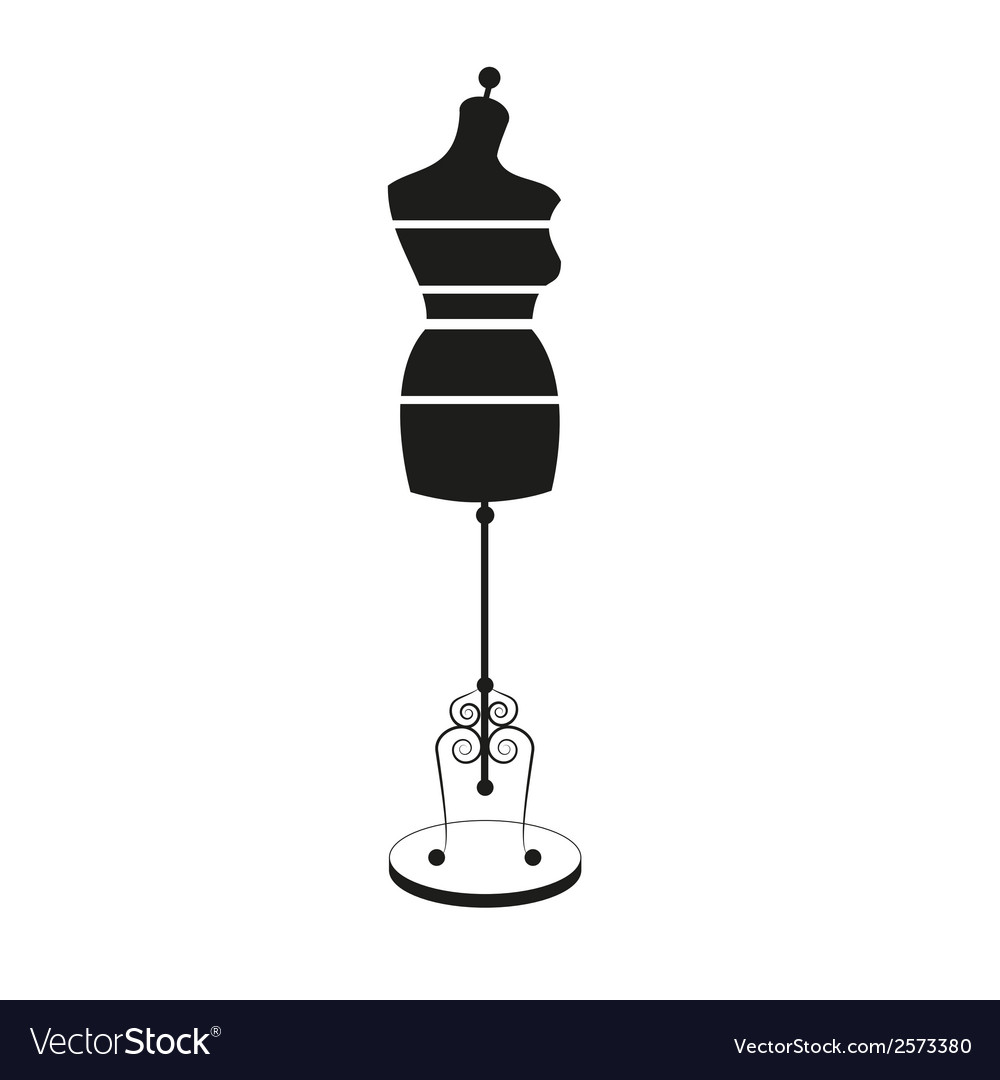 Vintage tailors mannequin with size measurements vector | Price: 1 Credit (USD $1)
