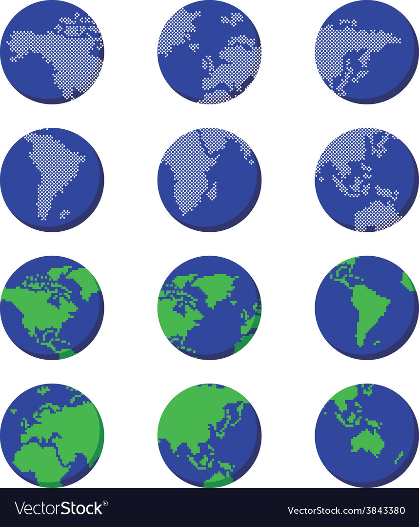 World globe map vector   Price: 1 Credit (USD $1)