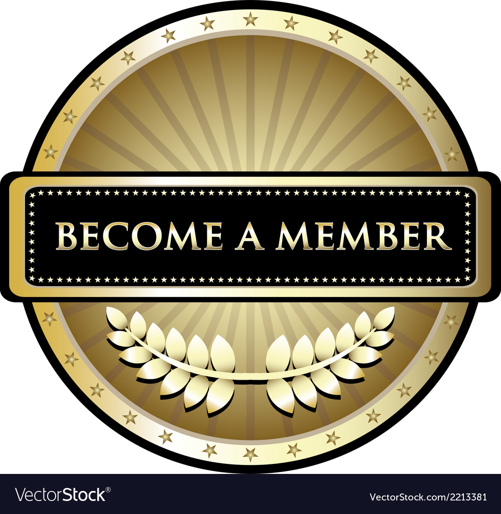 Become a member gold label vector | Price: 1 Credit (USD $1)