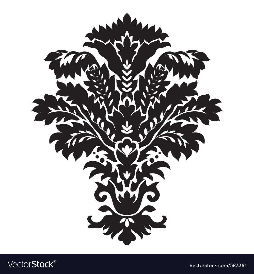 Black pattern vector