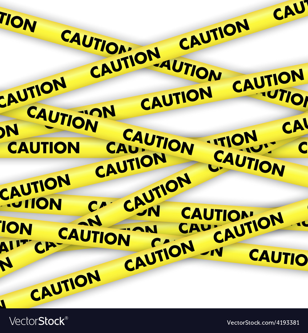 Caution tape vector | Price: 1 Credit (USD $1)