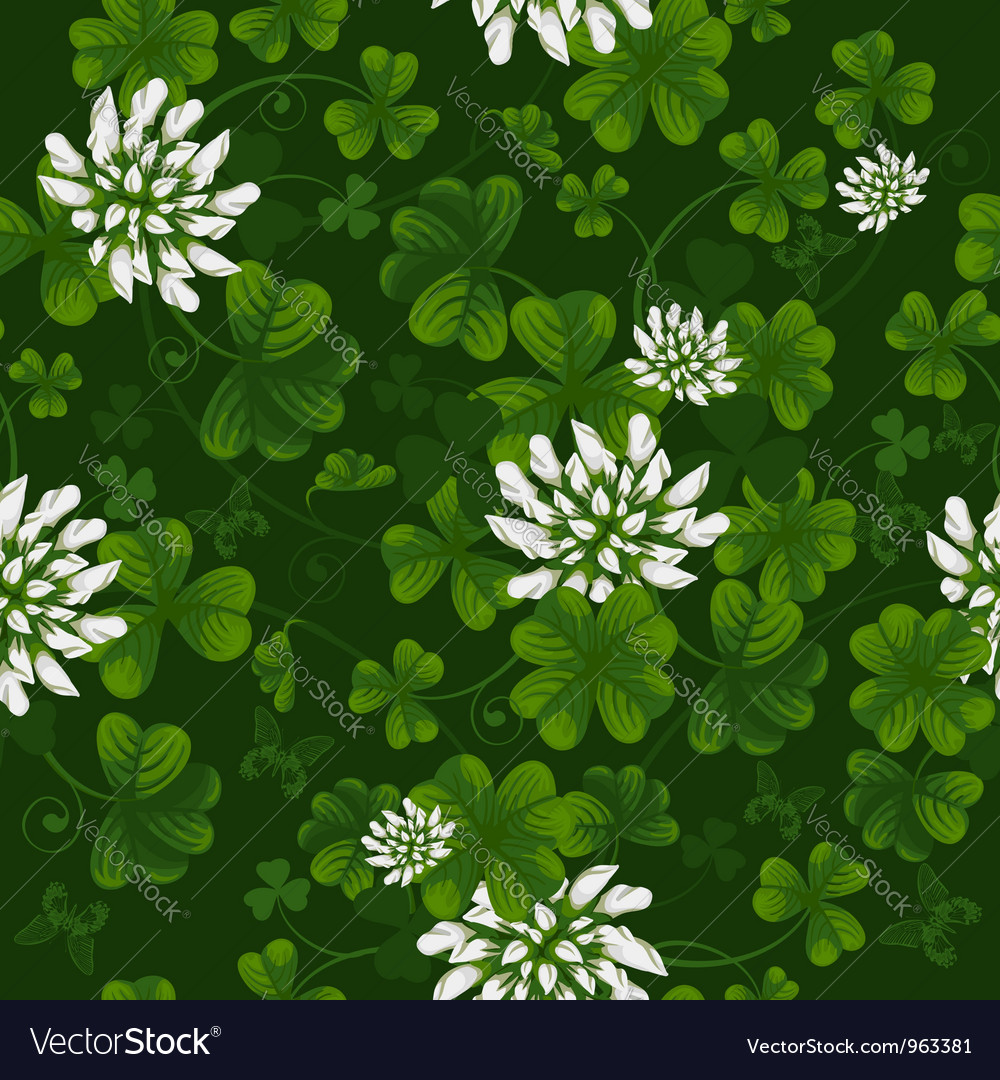 Clover seamless pattern vector | Price: 1 Credit (USD $1)