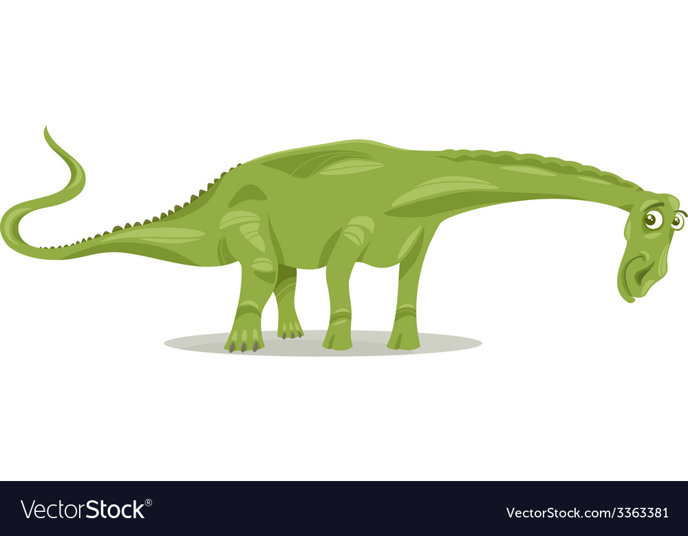 Diplodocus dinosaur cartoon vector | Price: 1 Credit (USD $1)