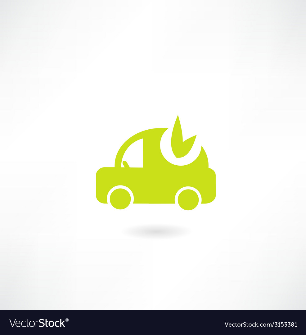 Eco car icon vector | Price: 1 Credit (USD $1)