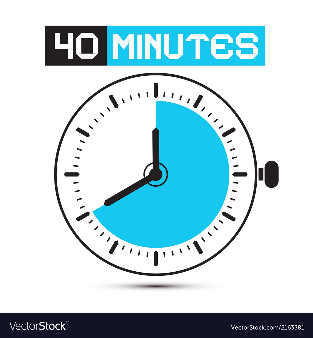 Forty minutes watch - clock vector | Price: 1 Credit (USD $1)