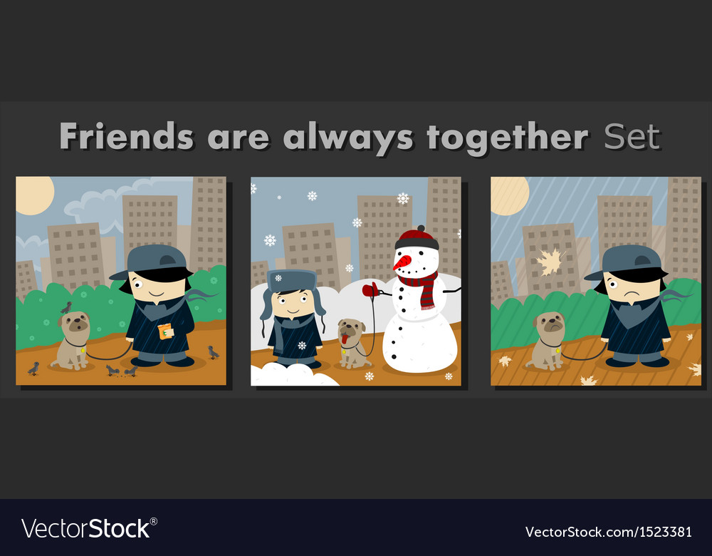 Friends are always together vector | Price: 1 Credit (USD $1)