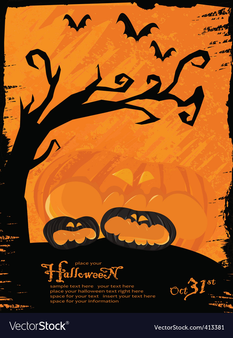 Grunge halloween theme vector | Price: 1 Credit (USD $1)