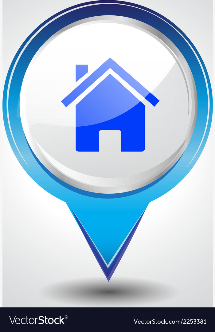 House pins vector | Price: 1 Credit (USD $1)