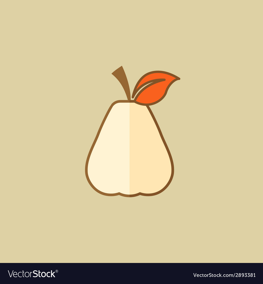 Pear food flat icon vector | Price: 1 Credit (USD $1)