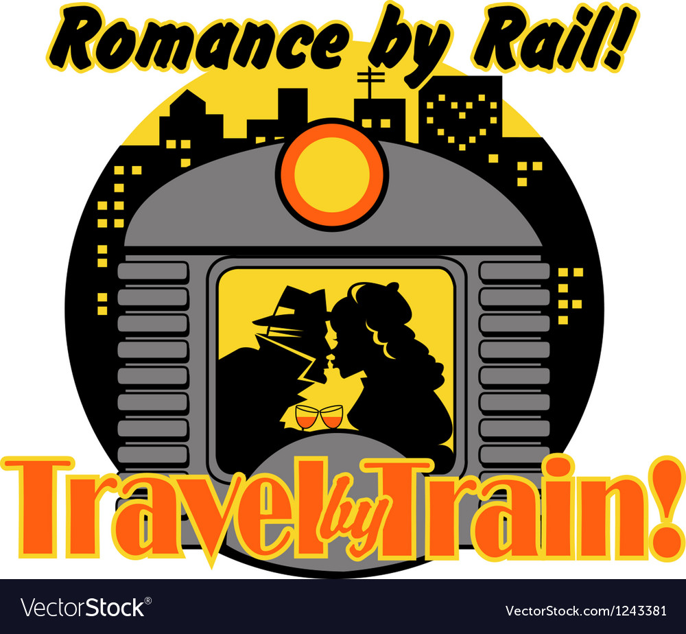 Romance by rail vector | Price: 1 Credit (USD $1)