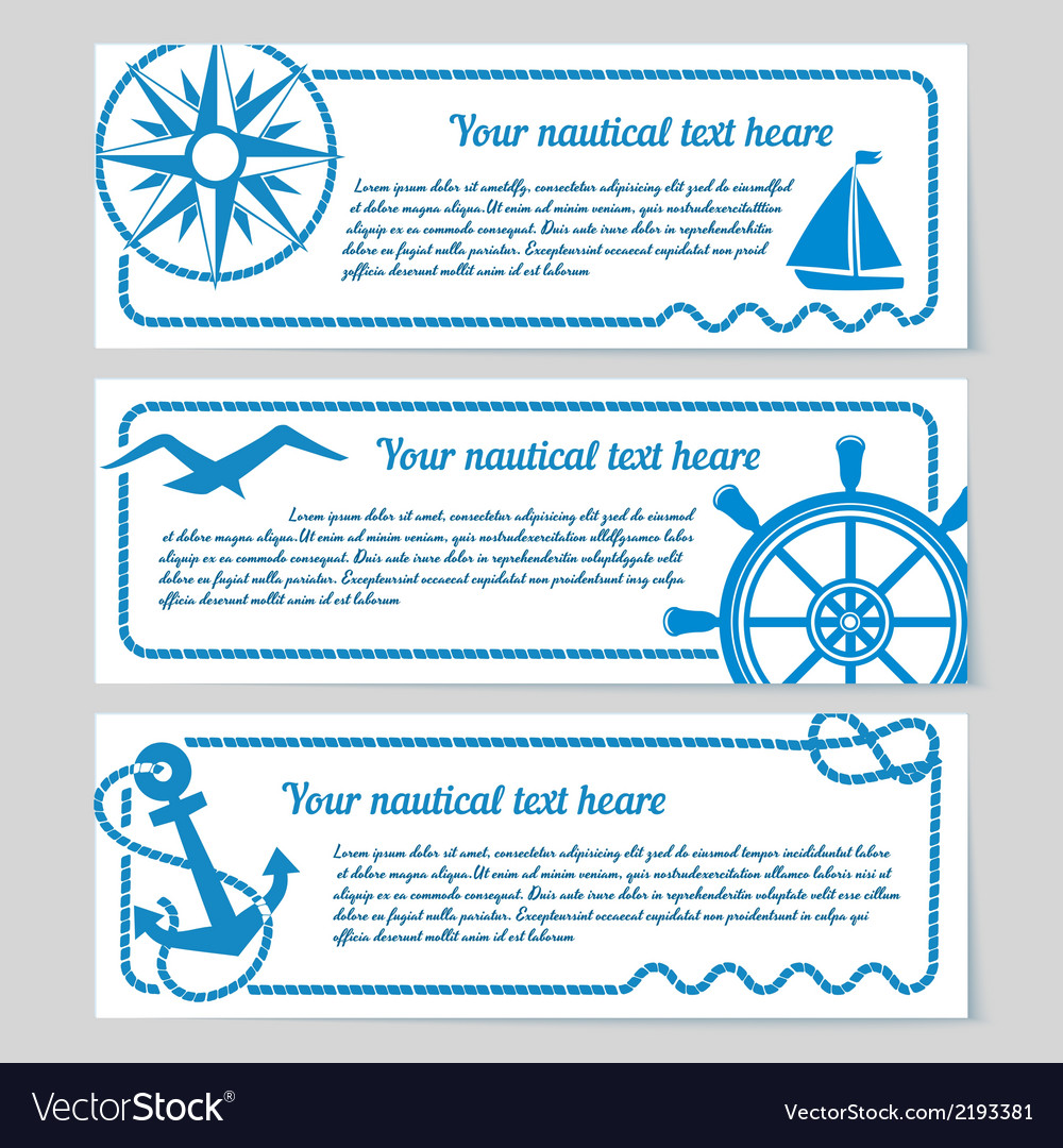 Set of nautical themed banners vector | Price: 1 Credit (USD $1)