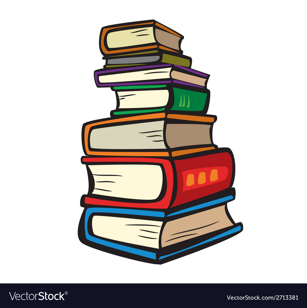 Stack of multi colored books vector | Price: 1 Credit (USD $1)