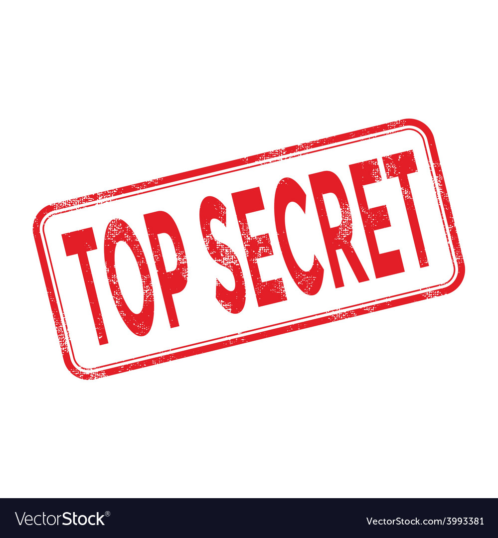 Stamp top secret with red text vector | Price: 1 Credit (USD $1)